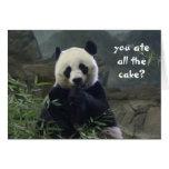 ¿Cumpleaños divertido de la panda, ninguna torta?  Tarjetas
