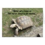 Cumpleaños divertido de la tortuga tarjetas