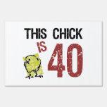 Cumpleaños divertido de las mujeres el 40.o