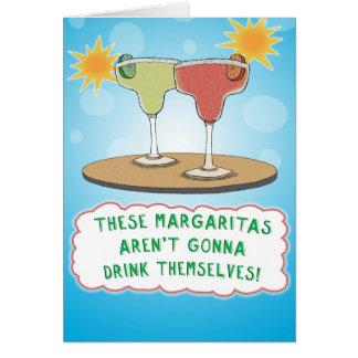 Cumpleaños divertido de los Margaritas Tarjeta De Felicitación