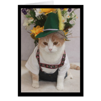Cumpleaños divertido del alemán del gato felicitacion