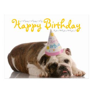 Cumpleaños divertido del dogo postal