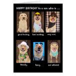 Cumpleaños divertido del hijo tarjeta de felicitación