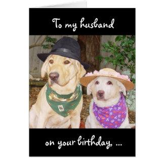 Cumpleaños divertido del marido tarjeta de felicitación