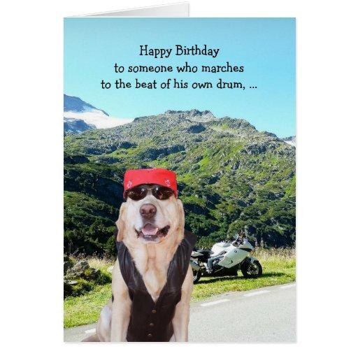 Cumpleaños divertido del perro/del laboratorio par tarjetas