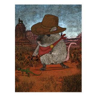 Cumpleaños divertido del vaquero tarjetas postales