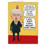 Cumpleaños divertido: Donald Trump construye una Tarjeta De Felicitación