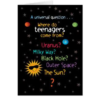Cumpleaños divertido/dulce de las adolescencias tarjeta de felicitación