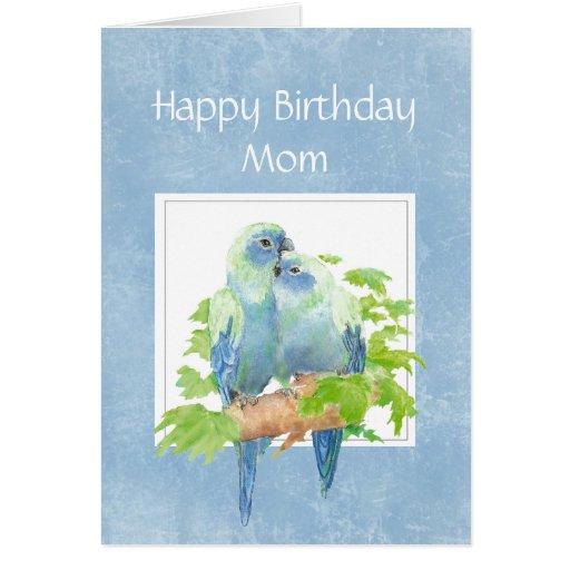 Cumpleaños divertido para los pájaros de los pares felicitaciones