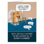 Cumpleaños divertido: Perro cómico de pie Tarjeta De Felicitación