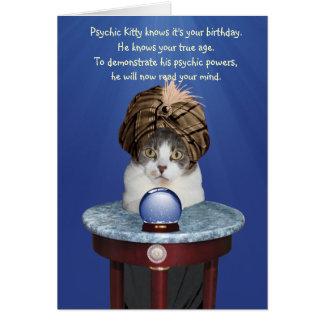 Cumpleaños divertido psíquico de Mikie Tarjeta De Felicitación