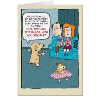 Cumpleaños divertido: Reglas del perro Tarjeta De Felicitación