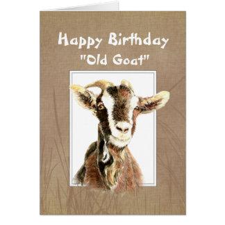 Cumpleaños divertido sobre el viejo humor de la ca tarjeta de felicitación
