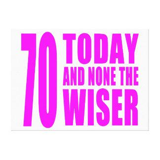 Cumpleaños divertidos 70 hoy y ningunos de los chi impresión en lona