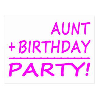 Cumpleaños divertidos de las tías: Tía + Cumpleaño Postal