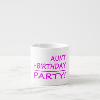 Cumpleaños divertidos de las tías: Tía + Cumpleaño Taza Espresso