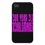 Cumpleaños divertidos de los chicas perturbador de iPhone 4 funda
