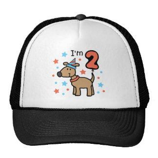 Cumpleaños dos del perro gorras