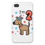 Cumpleaños dos del perro iPhone 4/4S fundas