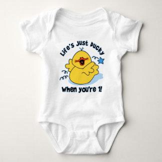 Cumpleaños Ducky de la vida el 1r Body Para Bebé