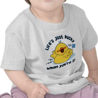 Cumpleaños Ducky de la vida el 2do Camisetas