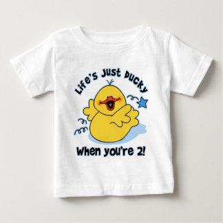 Cumpleaños Ducky de la vida el 2do Playera De Bebé