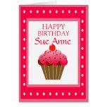 Cumpleaños dulce estupendo de la magdalena felicitación
