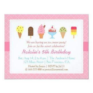 """Cumpleaños dulce, invitaciones del fiesta del invitación 4.25"""" x 5.5"""""""