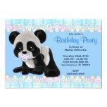 Cumpleaños dulce LINDO del oso de panda del bebé Comunicados Personales