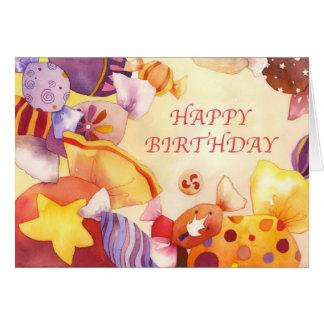 Cumpleaños dulce tarjeta de felicitación