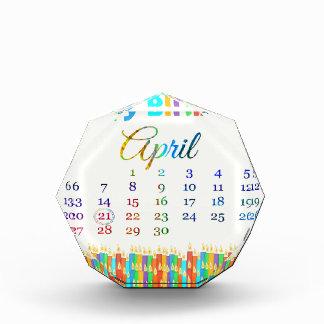 Cumpleaños el 21 de abril, velas coloridas del cum
