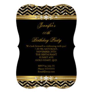 """Cumpleaños elegante 2 del diamante de Chevron del Invitación 5"""" X 7"""""""