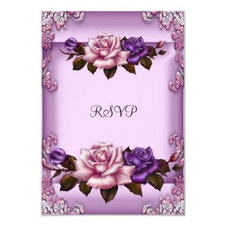 Cumpleaños elegante de los rosas púrpuras del rosa