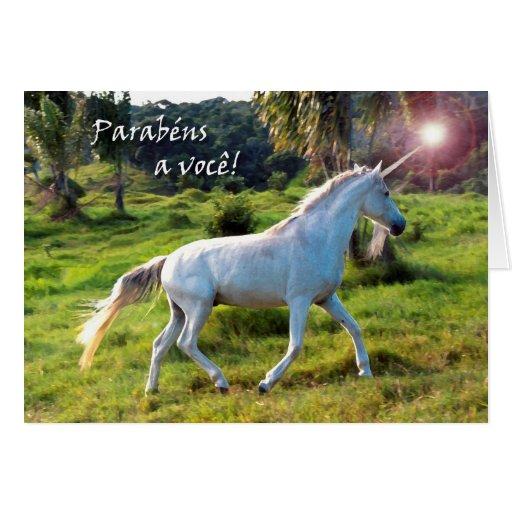 Cumpleaños en el funcionamiento portugués, mágico