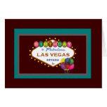 CUMPLEAÑOS en la tarjeta de Las Vegas, colorida, g