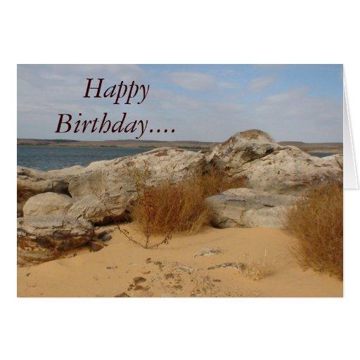Cumpleaños… en la tarjeta II de la playa