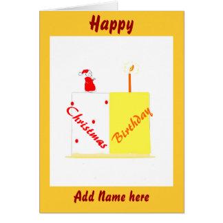 Cumpleaños en tarjeta del personalizable del navid