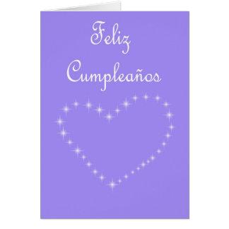 Cumpleaños español de Feliz Cumpleaños con el Tarjeta De Felicitación
