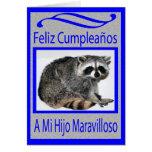 cumpleaños español del hijo tarjeta