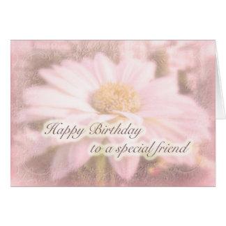 Cumpleaños especial del amigo - margarita del Gerb Tarjeta De Felicitación