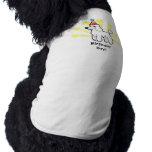 Cumpleaños estándar/caniche de la miniatura/de playera sin mangas para perro