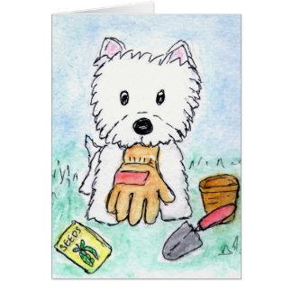 Cumpleaños etc. de la tarjeta de Westie que cultiv
