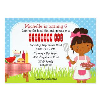 Cumpleaños étnico del Bbq de los chicas Invitaciones Personalizada