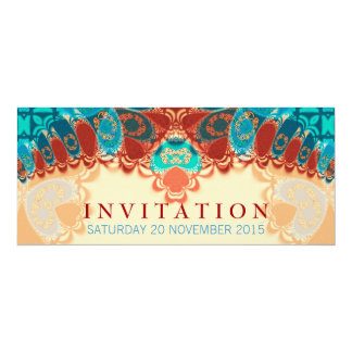 """Cumpleaños exótico del batik/ocasión especial invitación 4"""" x 9.25"""""""