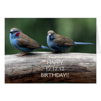 Cumpleaños feliz 12.12.12 tarjeta de felicitación