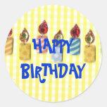 CUMPLEAÑOS: Feliz cumpleaños, pegatina de la vela