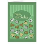 Cumpleaños, feliz cumpleaños, perro, Yappy, lindo Tarjeton