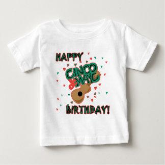 ¡Cumpleaños feliz de Cinco de Mayo! Playera De Bebé