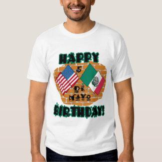 Cumpleaños feliz de Cinco de Mayo Polera