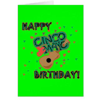 ¡Cumpleaños feliz de Cinco de Mayo! Tarjeta De Felicitación